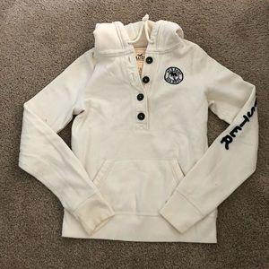 Hollister cream sweatshirt